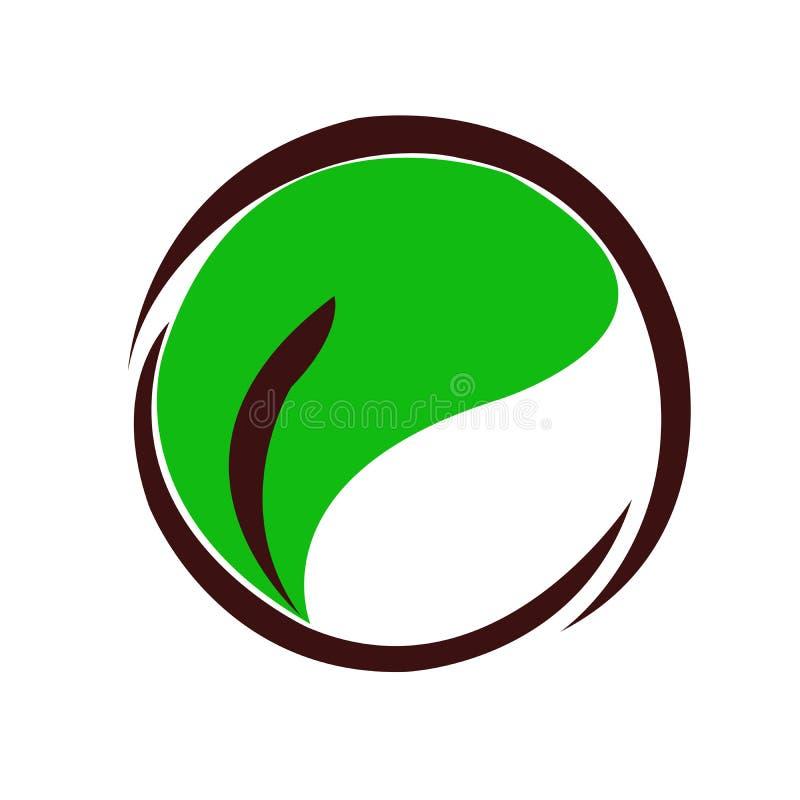 Круг и листья логотипа стоковая фотография
