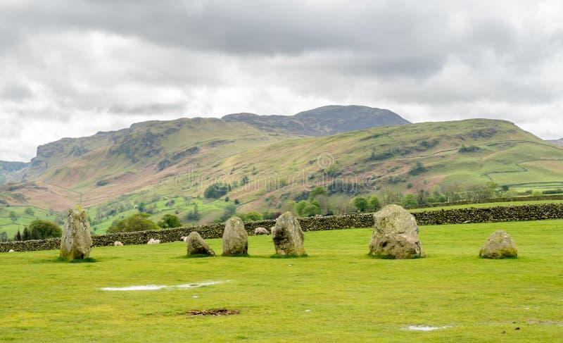 Круг камня Castlerigg в Англии стоковое фото rf