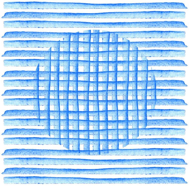 Download Круг на голубых нашивках Картина акварели предпосылки Абстрактной прокладки покрашенные рукой ретро тип Дизайн элемента для Иллюстрация штока - иллюстрации насчитывающей конспектов, bluets: 81806291