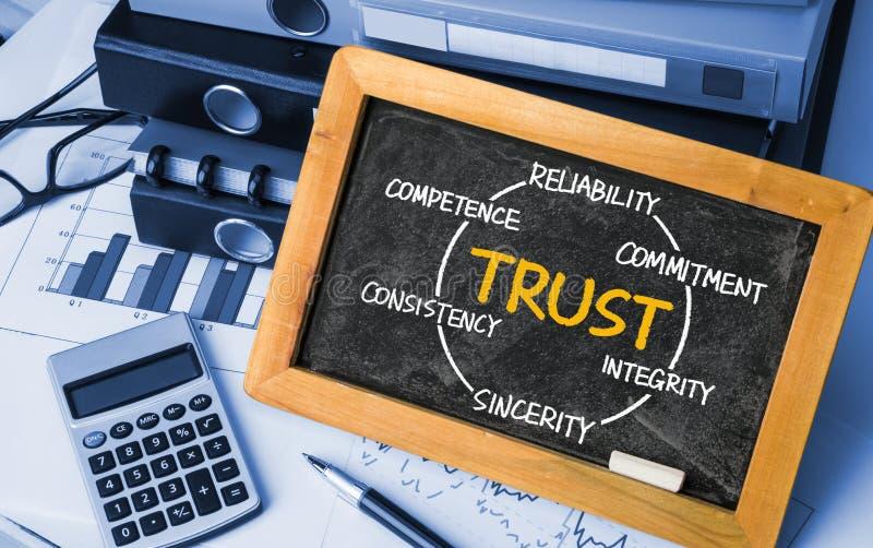 Круг доверия, концепция дела стоковое изображение rf