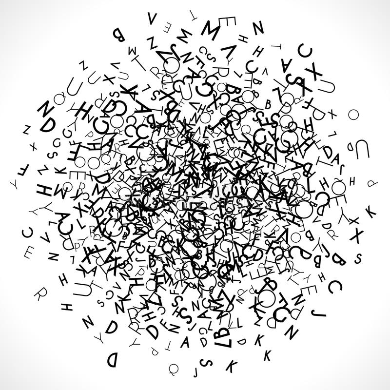 Круглое пятно сделанное от писем иллюстрация вектора