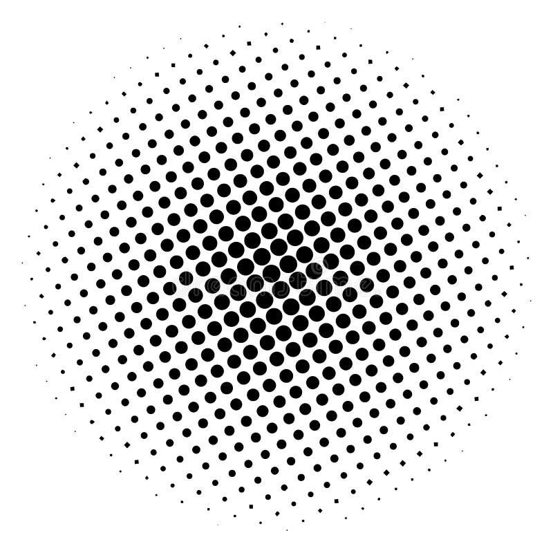 Круг полутонового изображения деталя, на белой предпосылке вода вектора свежей иллюстрации конструкции естественная ваша иллюстрация вектора