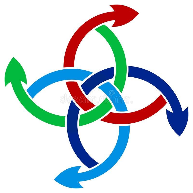 круг стрелок иллюстрация вектора