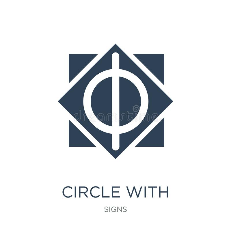 круг с вертикальной линией значком в ультрамодном стиле дизайна круг с вертикальной линией значком изолированным на белой предпос иллюстрация штока