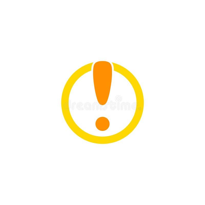 Круг с логотипом восклицательного знака иллюстрация вектора