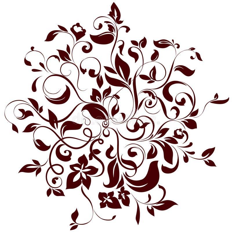 круг флористический иллюстрация вектора