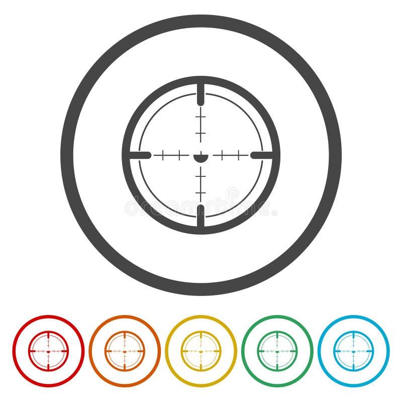 Круг цели для archery Вектор логотипа цели стрельбы круга цели бесплатная иллюстрация