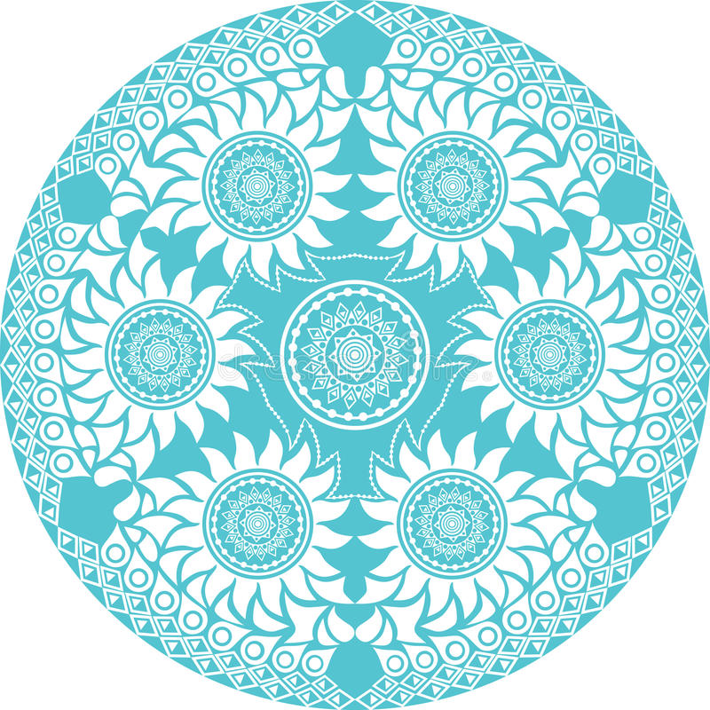 круг шнурка орнаментальный иллюстрация вектора