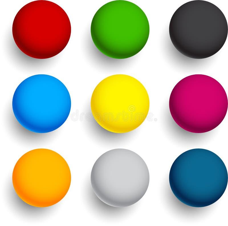 Круглые красочные шарики. иллюстрация вектора