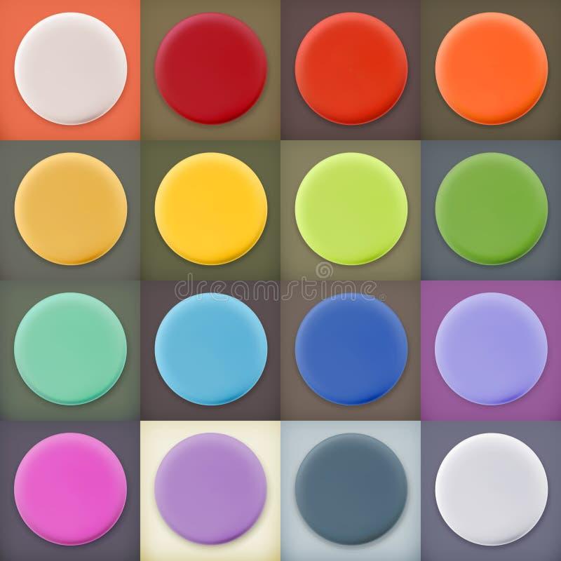 Круглые пустые значки и кнопки сети пробелов бесплатная иллюстрация