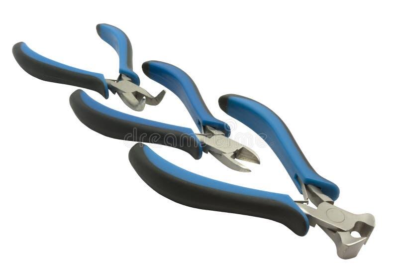 Круглые плоскогубцы, резцы провода и плоскогубцы вырезывания стоковое изображение rf