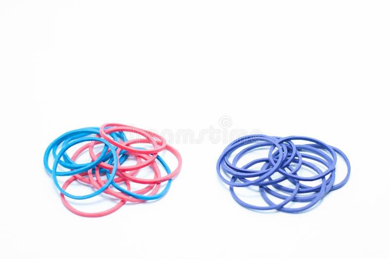 Круглые резинкы цвета стоковая фотография