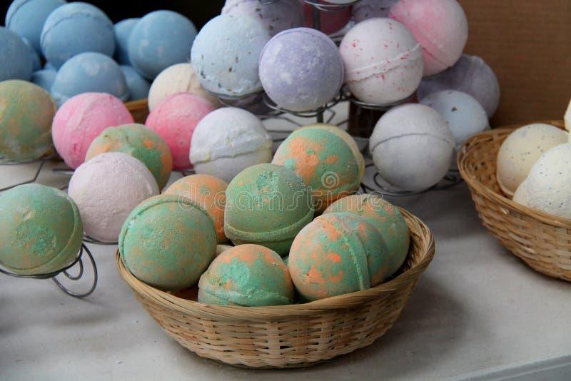 Круглые шарики ванны стоковые изображения rf