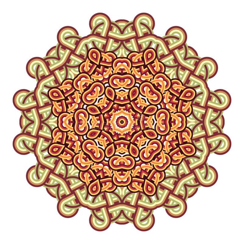 Круглый орнамент в восточном стиле иллюстрация вектора