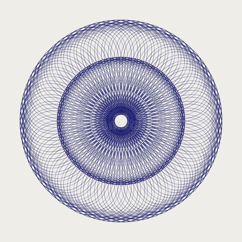Круглый орнамент шнурка Стоковая Фотография