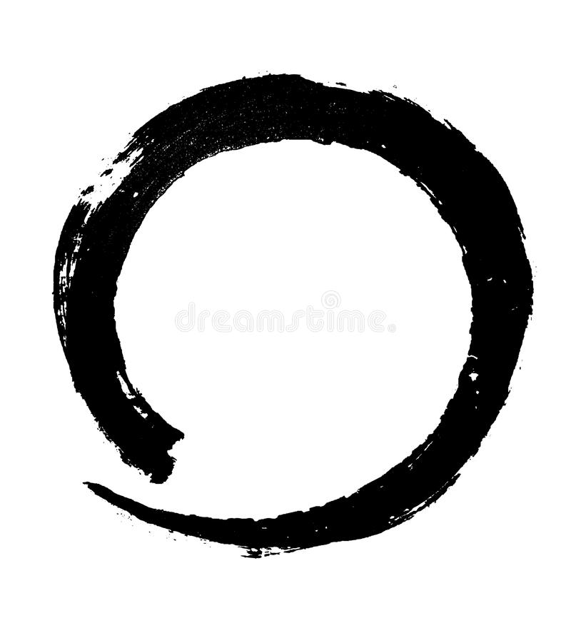 Круглый черный brushstroke краски бесплатная иллюстрация
