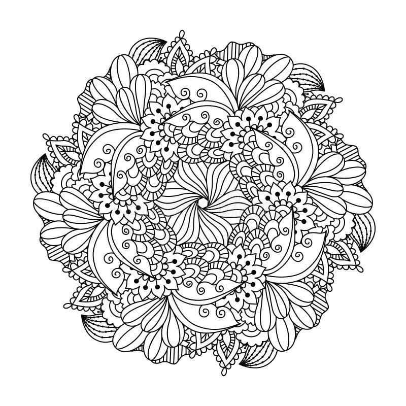 Круглый элемент для книжка-раскраски иллюстрация штока