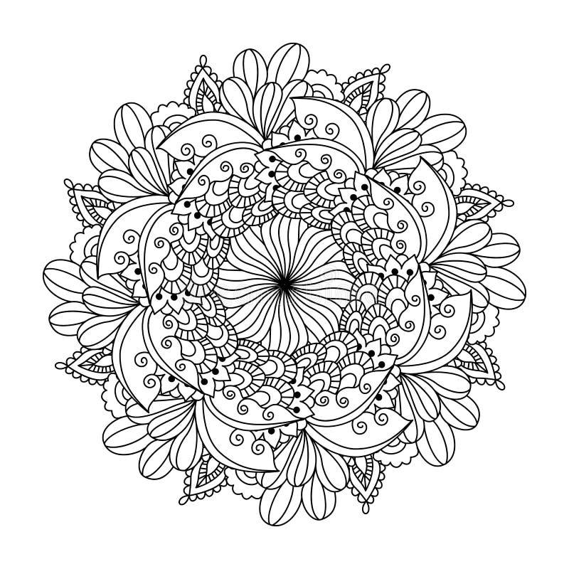 Круглый элемент для книжка-раскраски иллюстрация вектора