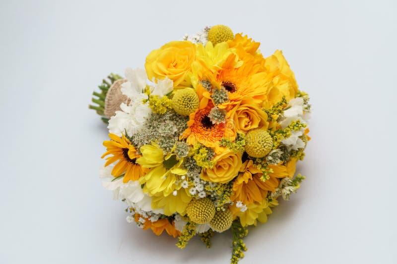 Круглый bridal букет стоковое фото