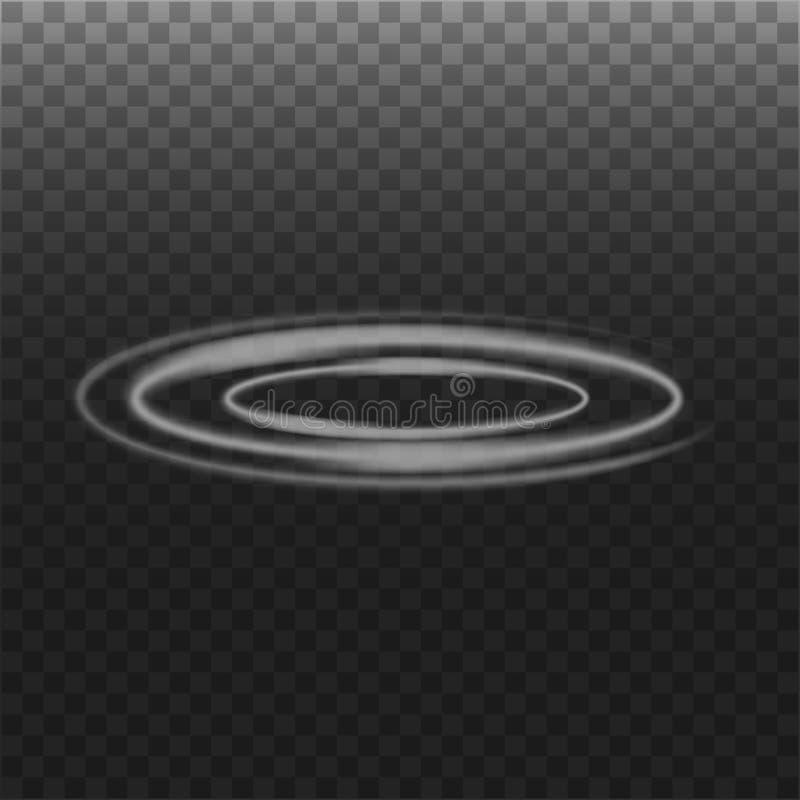Круг дыма на прозрачной предпосылке стоковые изображения