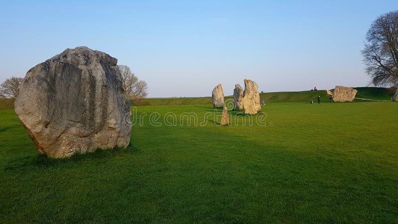Круг Avebury старый каменный, в сердце места всемирного наследия Avebury стоковое фото rf