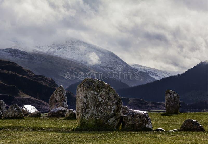 Круг Castlerigg каменный стоковое фото