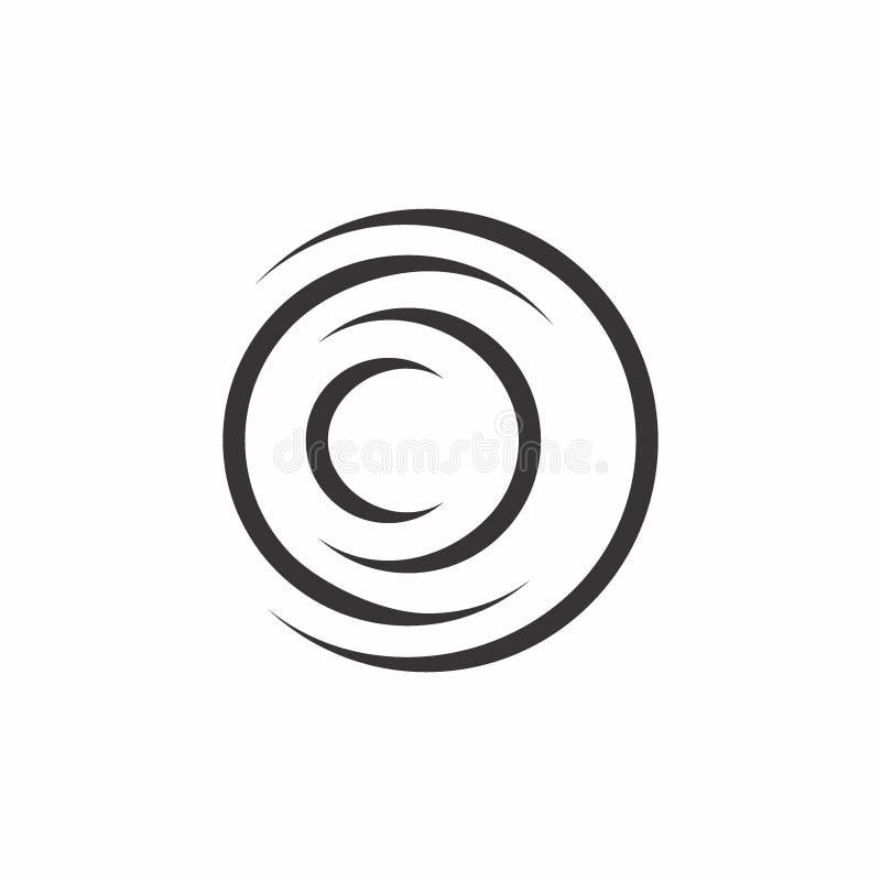 круг 3d изгибает вектор логотипа бесплатная иллюстрация