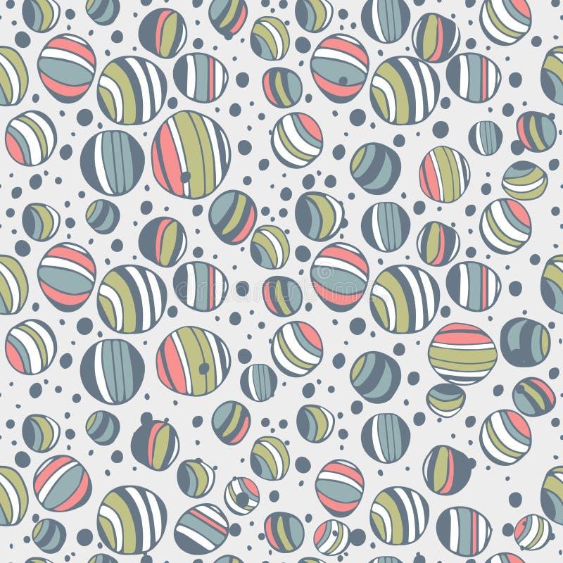 Круг doodle эскиза конспекта геометрический, предпосылка картины вектора безшовная, линии иллюстрация кругов руки вычерченные для бесплатная иллюстрация