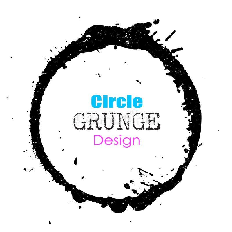 Круг Grunge иллюстрация штока