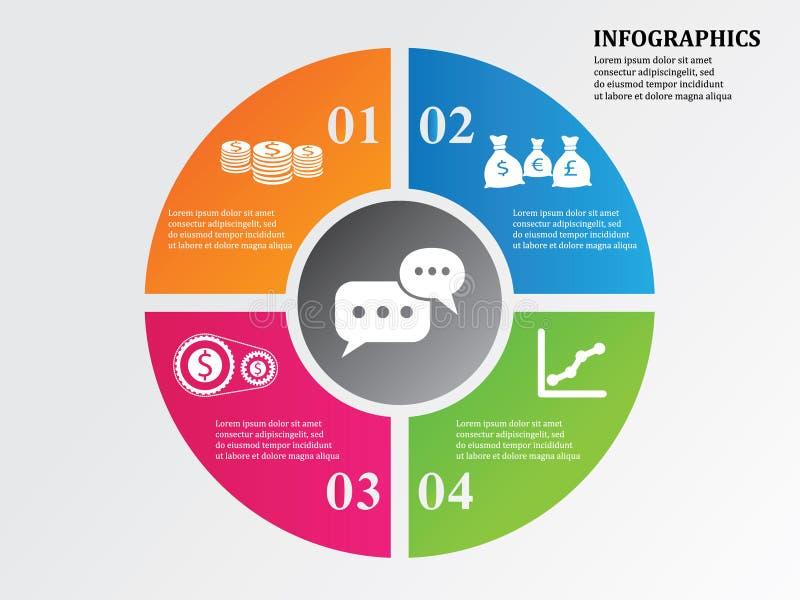 Круг Infographics дела бесплатная иллюстрация