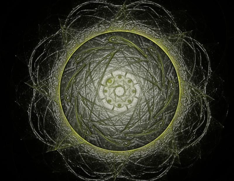 Кружевная красочная картина clockwork Дизайн искусства фрактали цифров гнойничка бесплатная иллюстрация