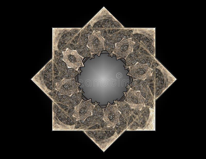 Кружевная красочная картина clockwork Дизайн искусства фрактали цифров гнойничка иллюстрация вектора