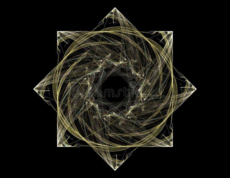 Кружевная красочная картина clockwork, цифровой дизайн искусства фрактали иллюстрация вектора
