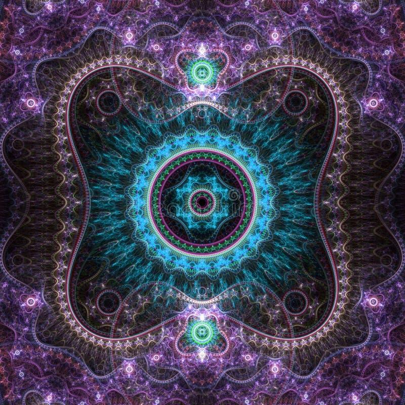 Кружевной красочный clockwork фрактали иллюстрация вектора