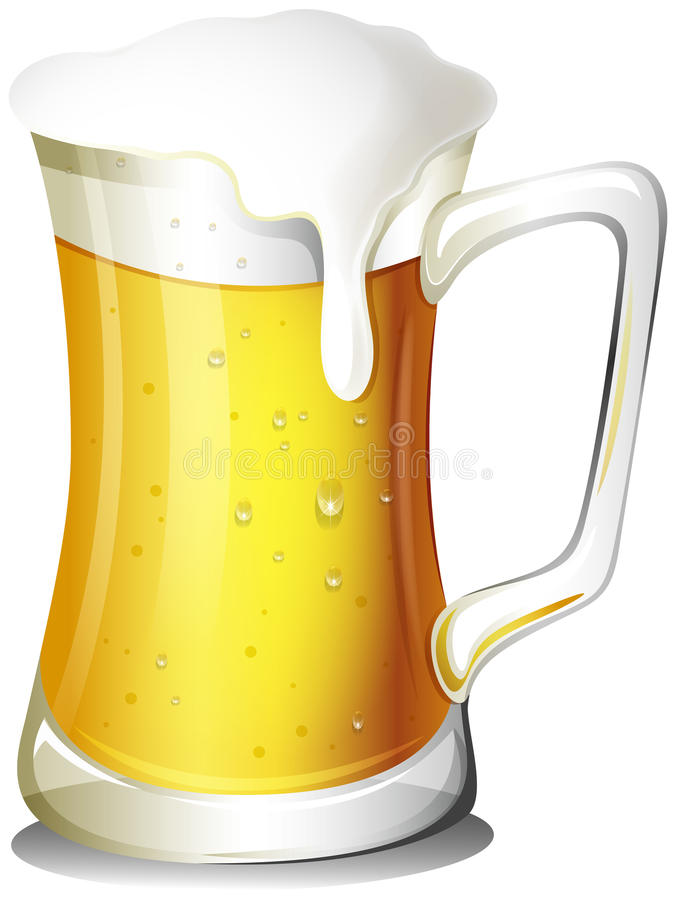 Кружка вполне холодного пива иллюстрация штока