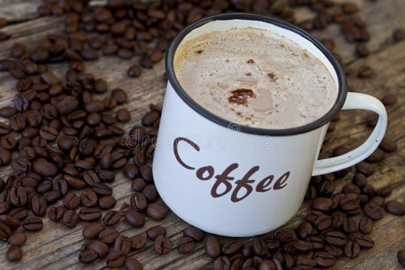 Download кружка кофе стоковое изображение. изображение насчитывающей урожай - 18382713