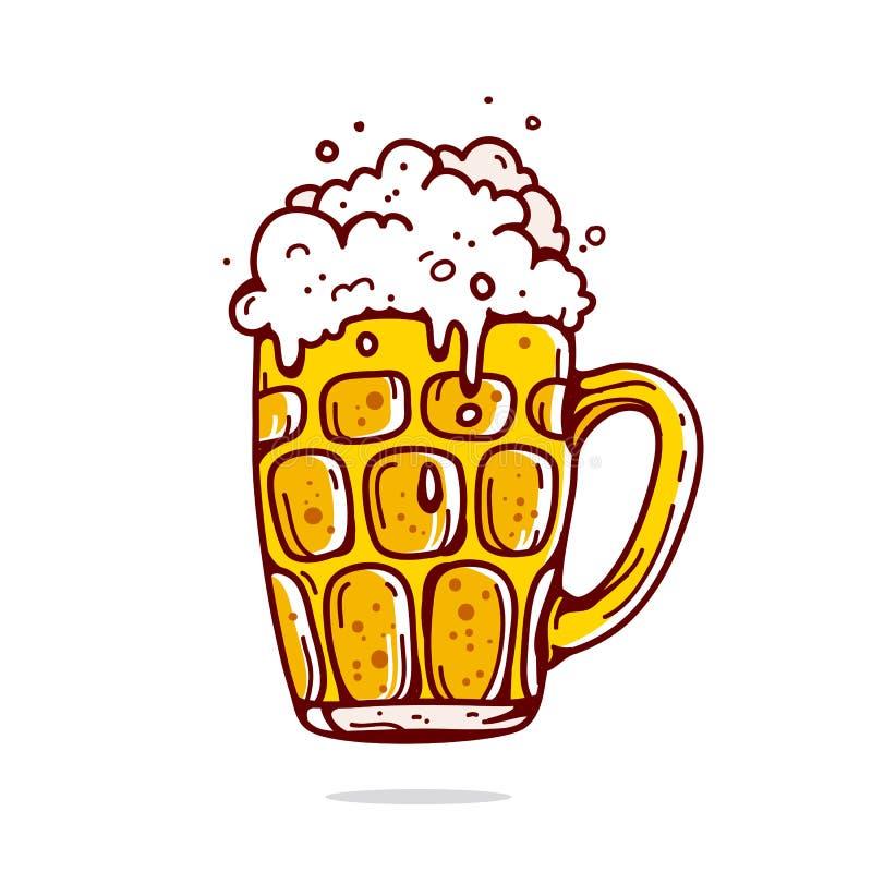 кружка пива большая иллюстрация вектора