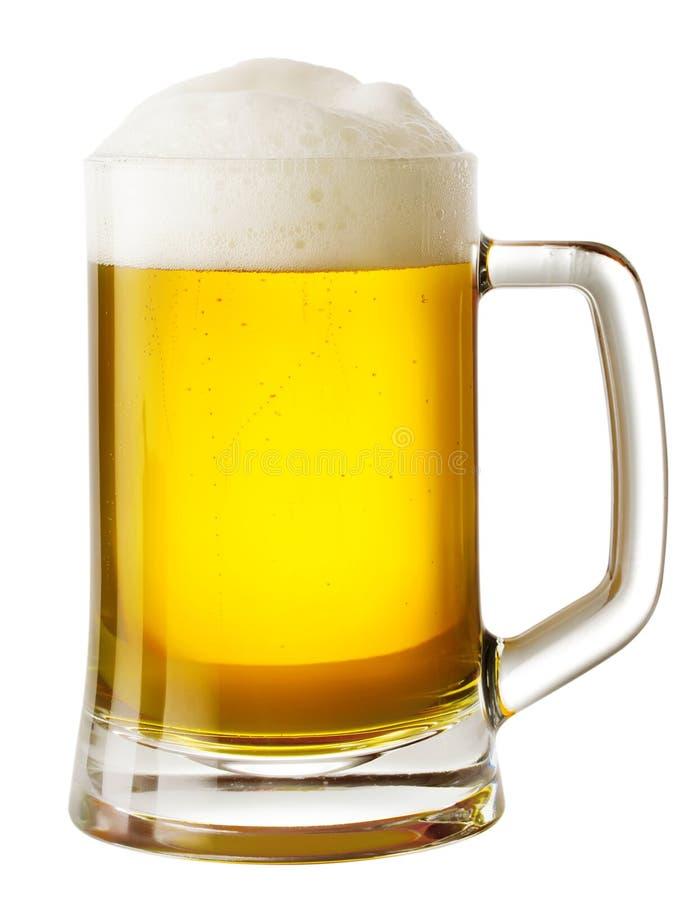 Кружка пива с пеной стоковое фото rf