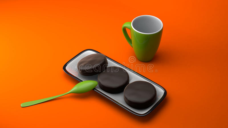 Кружки кофе стоковое изображение