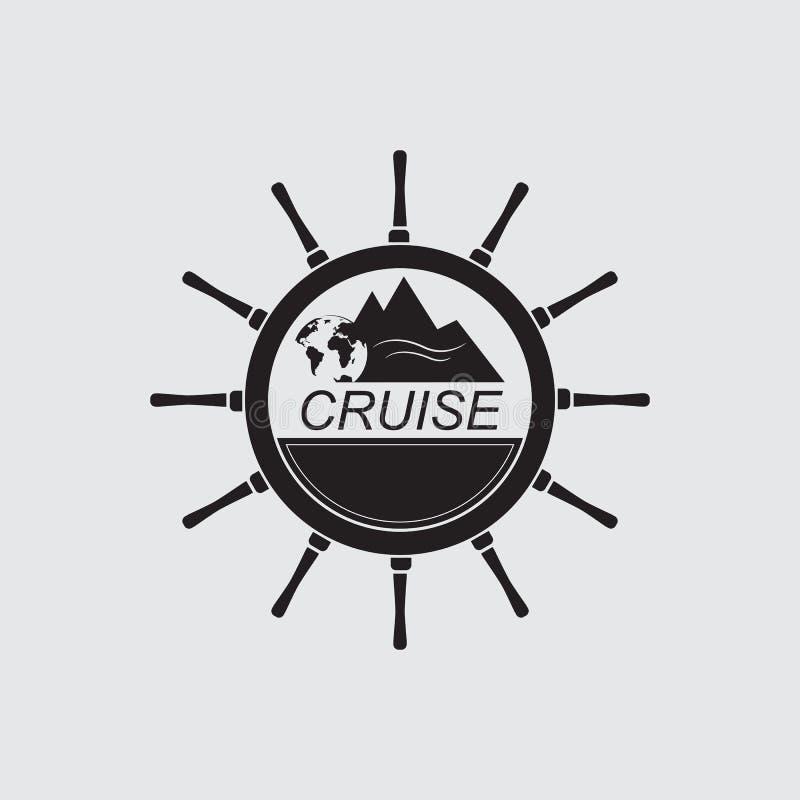 Круиз моря логотипа иллюстрация штока
