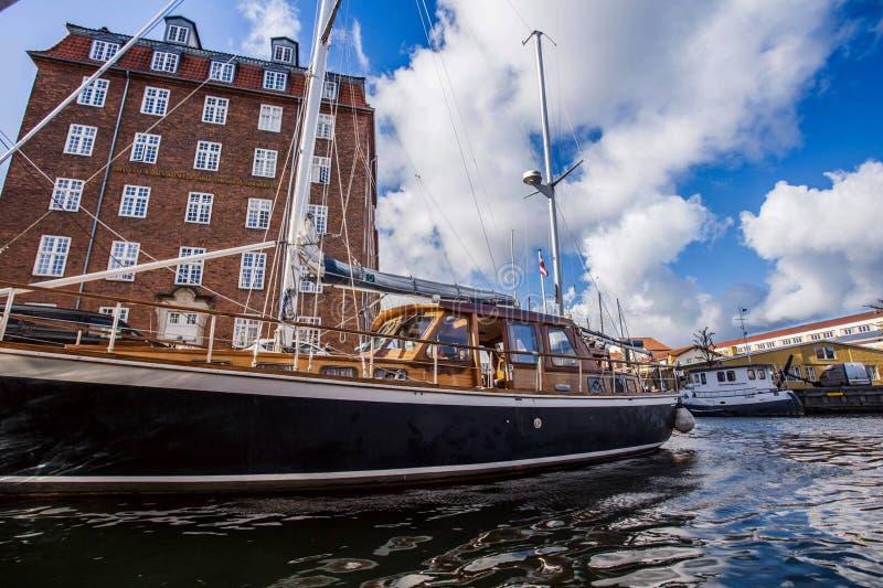 Круиз реки Копенгагена, Дания стоковая фотография rf