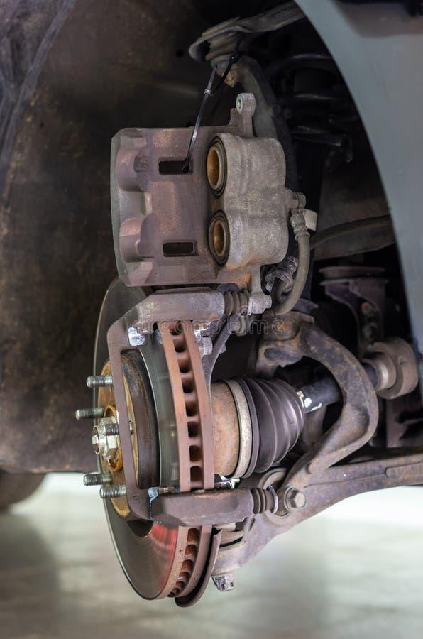 Крумциркуль тормоза без тормозных колодок стоковое изображение rf