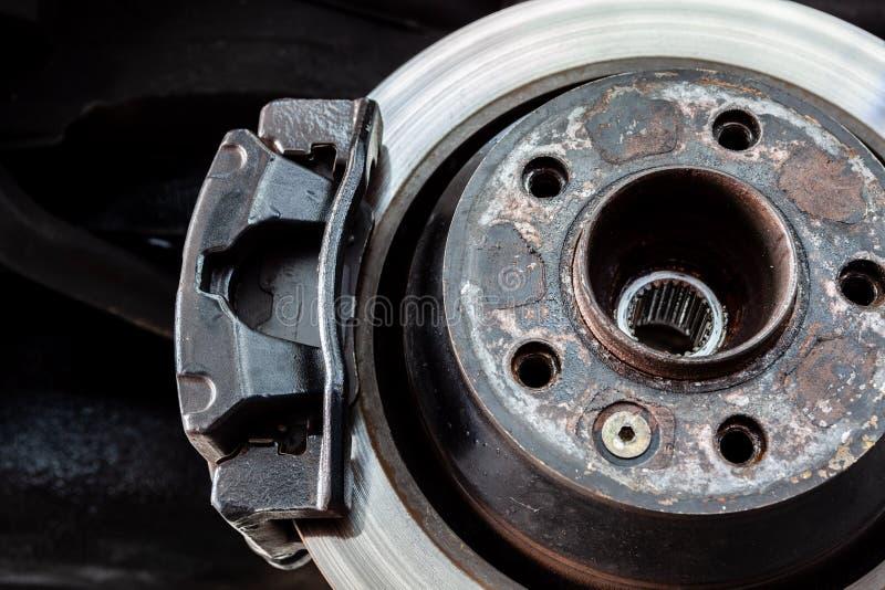 Крумциркуль тормоза на колесе стоковое изображение