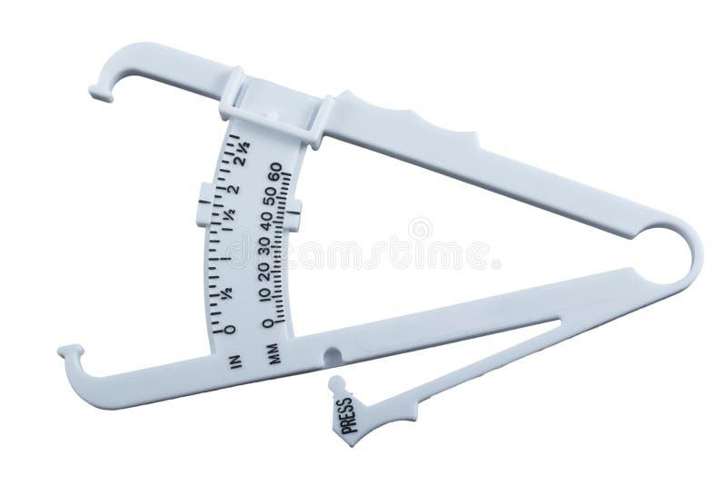 Крумциркули жировых отложений измеряя. стоковые фото