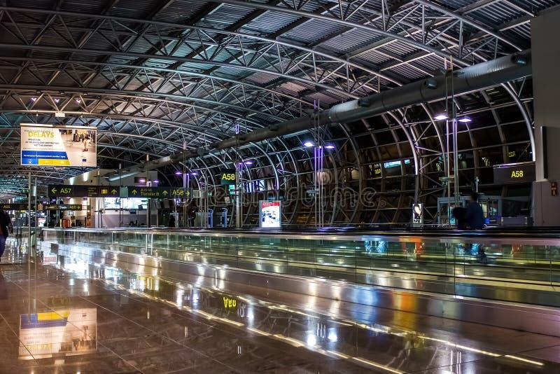 Крупный аэропорт Брюсселя стоковые фото