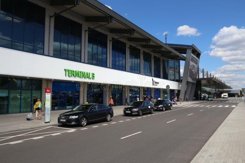 Крупный аэропорт Катовице стоковая фотография
