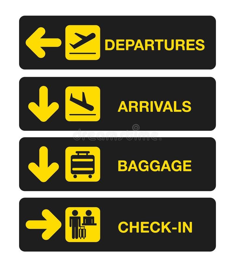 Крупный аэропорт иллюстрация штока