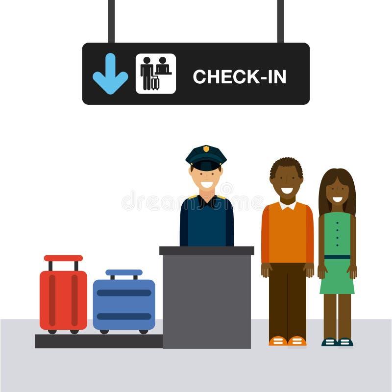 Крупный аэропорт иллюстрация вектора