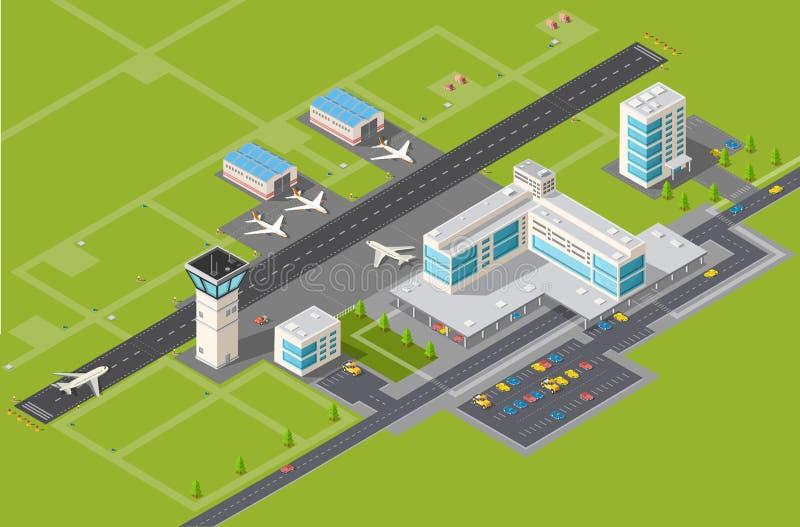 Крупный аэропорт бесплатная иллюстрация