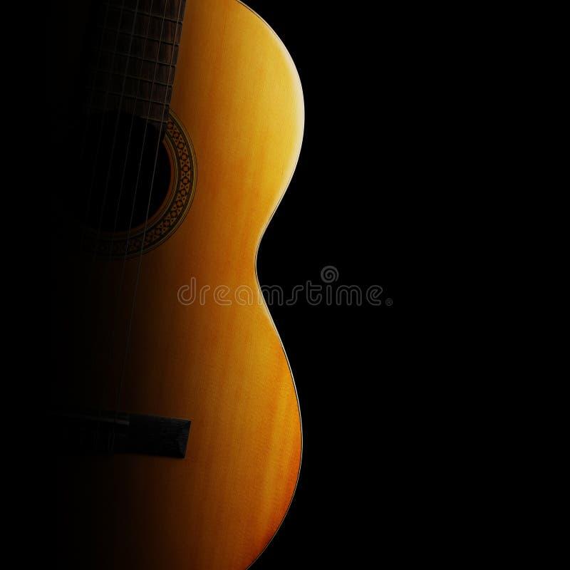 Крупный план акустической гитары классическая близкая гитара вверх стоковое фото rf